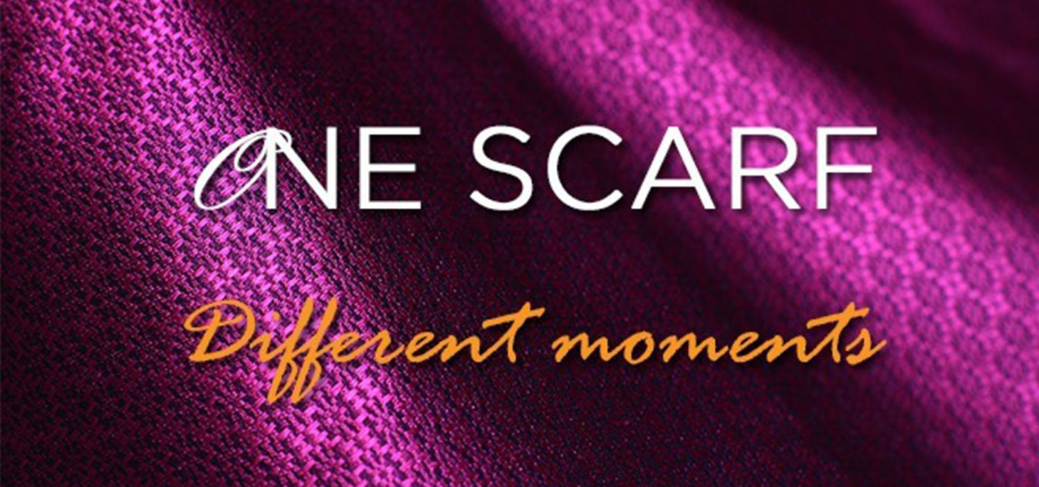 One scarf, different moments