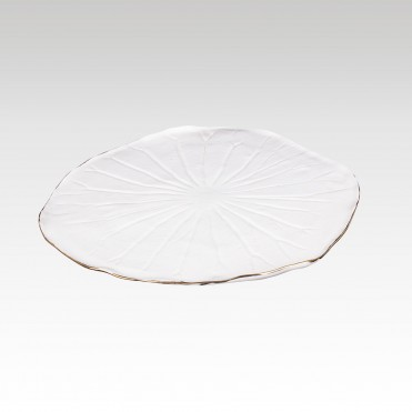 Lotus leaf golden tray