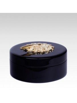 LACQUER FLOWER ROUND BOX